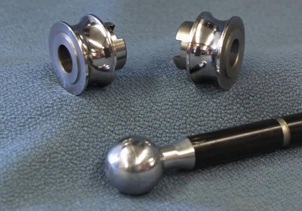 Salvo burnishing rolls and sample parts
